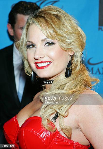 Adult film actress Flower Tucci arrives at the 25th annual Adult Video News Awards Show at the Mandalay Bay Events Center January 12 2008 in Las...