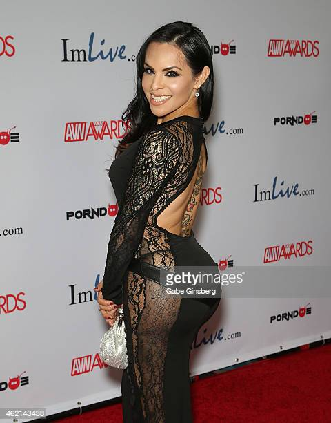 Adult Film Actress Ts Foxxy Arrive At The 2015 Adult Video News Awards At The Hard