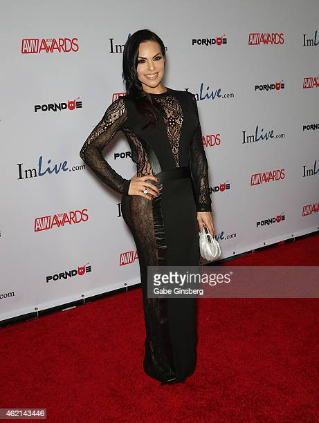 Adult Film Actress Ts Foxxy Arrives At The 2015 Adult Video News Awards At The Hard
