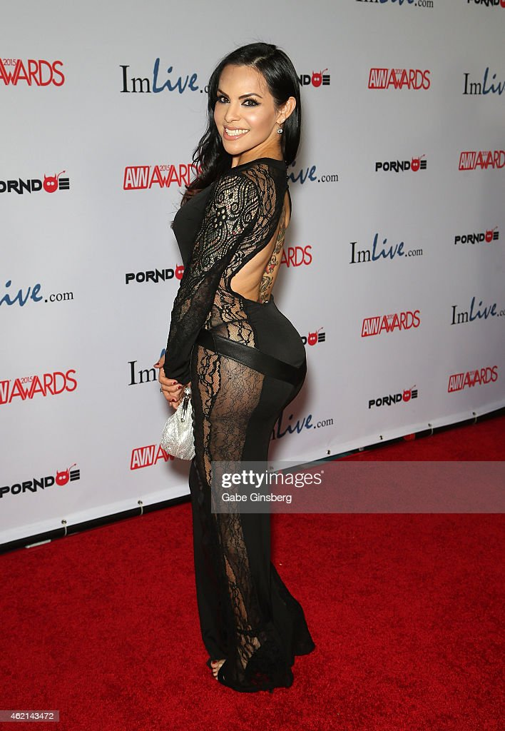 Adult film actress TS Foxxy arrives at the 2015 Adult Video News Awards at the Hard Rock Hotel & Casino on January 24, 2015 in Las Vegas, Nevada.