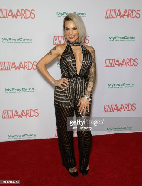 Adult film actress Foxxy attends the 2018 Adult Video News Awards at the Hard Rock Hotel Casino on January 27 2018 in Las Vegas Nevada
