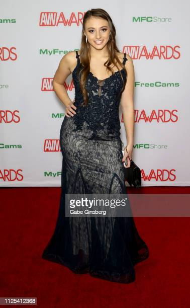 Adult film actress Gia Derza attends the 2019 Adult Video News Awards at The Joint inside the Hard Rock Hotel Casino on January 26 2019 in Las Vegas...