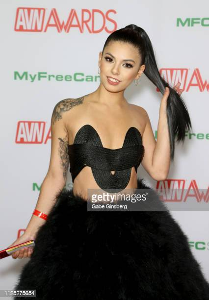 Adult film actress Gina Valentina attends the 2019 Adult Video News Awards at The Joint inside the Hard Rock Hotel Casino on January 26 2019 in Las...