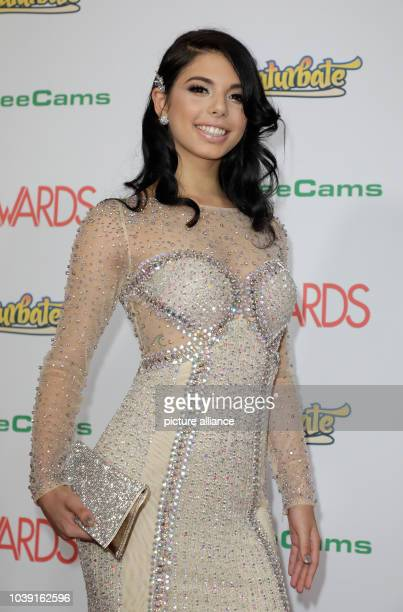 Adult film actress Gina Valentina attends the Adult Video News Awards AVN Awards at Hard Rock Hotel Casino in Las Vegas Nevada USA on 21 January 2017...