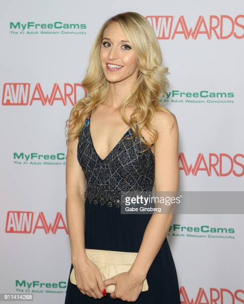 Adult film actress Ginger Banks attends the 2018 Adult Video News Awards at the Hard Rock Hotel Casino on January 27 2018 in Las Vegas Nevada