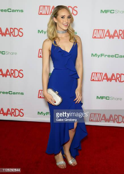 Adult film actress Ginger Banks attends the 2019 Adult Video News Awards at The Joint inside the Hard Rock Hotel Casino on January 26 2019 in Las...