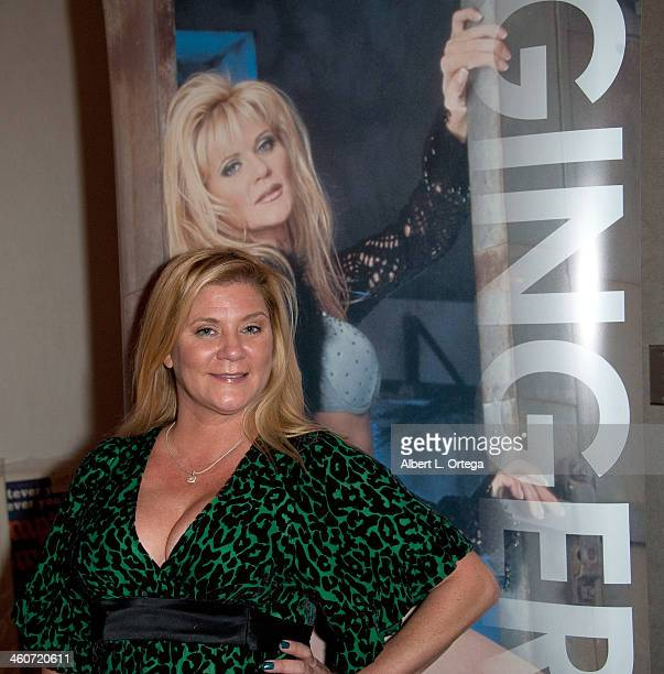 Adult film actress Ginger Lynn Allen attends The Hollywood Show at Lowes Hollywood Hotel on January 4, 2014 in Hollywood, California.