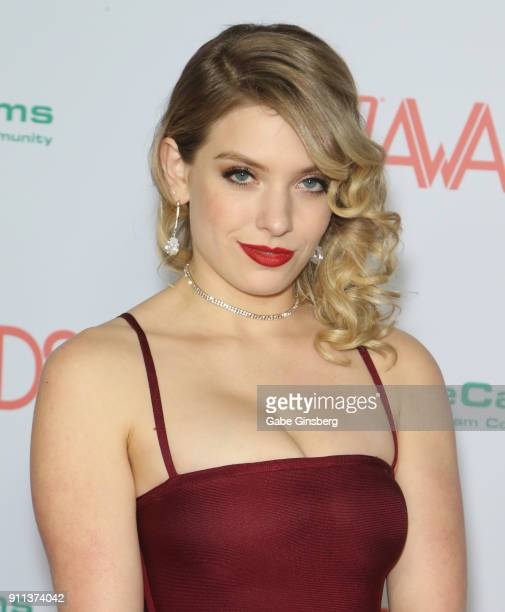 Adult film actress Giselle Palmer attends the 2018 Adult Video News Awards at the Hard Rock Hotel Casino on January 27 2018 in Las Vegas Nevada