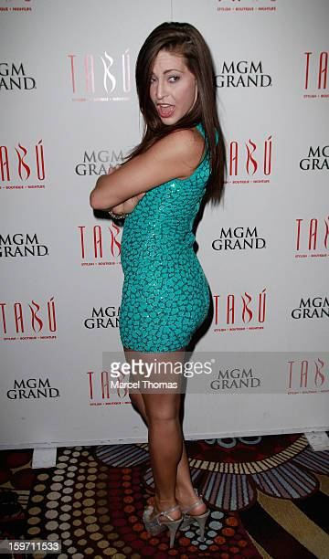 Adult film actress Gracie Glam hosts a pre-AVN Awards party at Tabu inside the MGM Grand on January 18, 2013 in Las Vegas, Nevada.