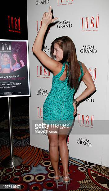 Adult film actress Gracie Glam hosts a preAVN Awards party at Tabu inside the MGM Grand on January 18 2013 in Las Vegas Nevada