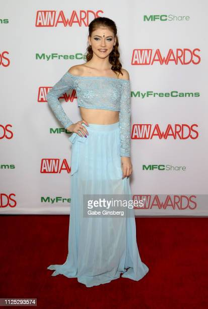 Adult film actress Hannah Hays attends the 2019 Adult Video News Awards at The Joint inside the Hard Rock Hotel Casino on January 26 2019 in Las...