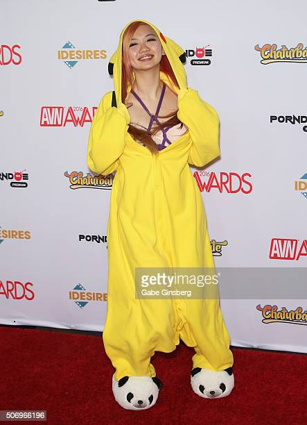 Adult film actress Harriet Sugarcookie attends the 2016 Adult Video News Awards at the Hard Rock Hotel Casino on January 23 2016 in Las Vegas Nevada