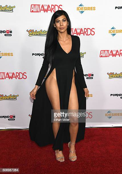 Adult film actress Heather Vahn attends the 2016 Adult Video News Awards at the Hard Rock Hotel Casino on January 23 2016 in Las Vegas Nevada