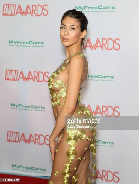 Adult film actress Heather Vahn attends the 2018 Adult Video News Awards at the Hard Rock Hotel Casino on January 27 2018 in Las Vegas Nevada