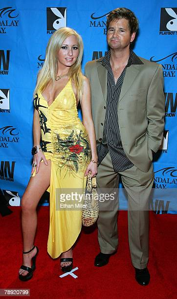 Adult film actress Hillary Scott and producer Jeff Mullen arrive at the 25th annual Adult Video News Awards Show at the Mandalay Bay Events Center...