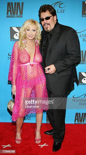 Adult film actress Hillary Scott and Sex Z Pictures owner Bo Kenney arrive at the 24th annual Adult Video News Awards Show at the Mandalay Bay Events...