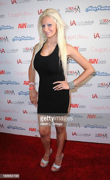 Adult film actress Holly Brooks arrives for The 1st Annual Sex Awards 2013 held at Avalon on October 9 2013 in Hollywood California