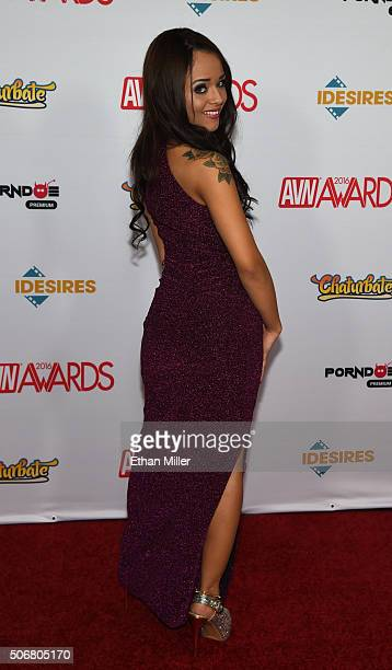 Adult film actress Holly Hendrix attends the 2016 Adult Video News Awards at the Hard Rock Hotel Casino on January 23 2016 in Las Vegas Nevada