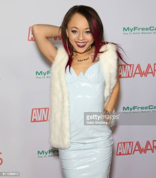 Adult film actress Holly Hendrix attends the 2018 Adult Video News Awards at the Hard Rock Hotel Casino on January 27 2018 in Las Vegas Nevada