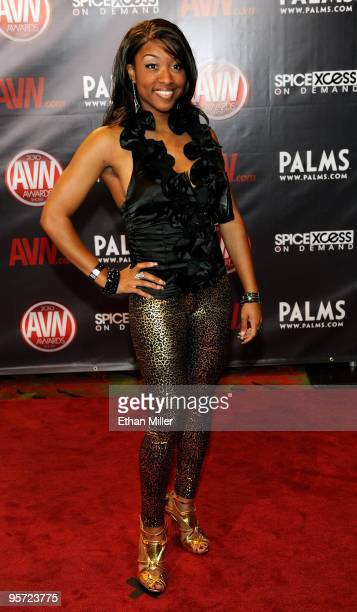 Adult Film Actress Imani Rose Arrives At The 27th Annual Adult Video News Awards Show At