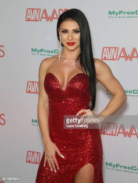 Adult film actress Inna Innaki attends the 2018 Adult Video News Awards at the Hard Rock Hotel Casino on January 27 2018 in Las Vegas Nevada