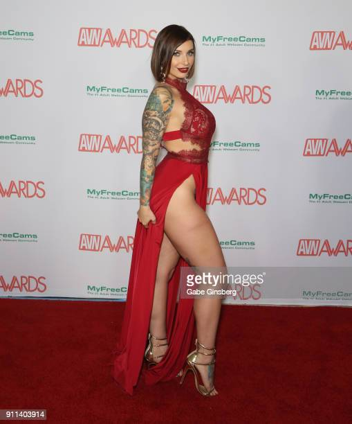 Adult film actress Ivy Lebelle attends the 2018 Adult Video News Awards at the Hard Rock Hotel Casino on January 27 2018 in Las Vegas Nevada