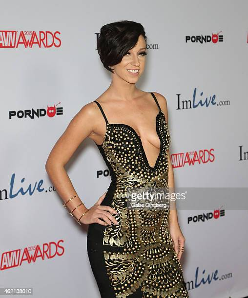 Adult film actress Jada Stevens arrives at the 2015 Adult Video News Awards at the Hard Rock Hotel Casino on January 24 2015 in Las Vegas Nevada