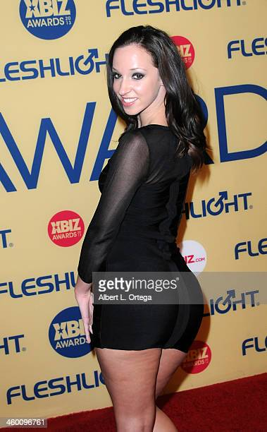 Adult Film actress Jada Stevens arrives for the 2013 XBIZ Awards held at the Hyatt Regency Century Plaza on January 11 2013 in Century City California