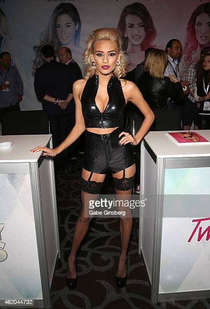 Adult film actress Janice Griffith attends the 2015 AVN Adult Entertainment Expo at the Hard Rock Hotel Casino on January 23 2015 in Las Vegas Nevada