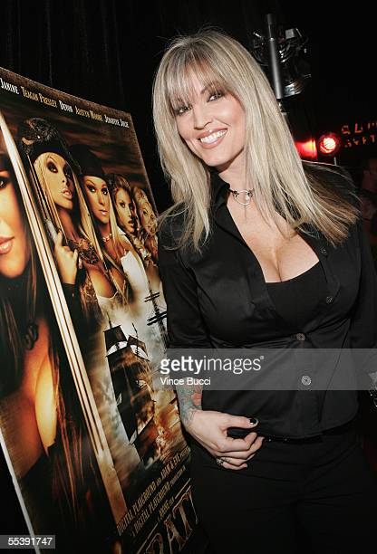 Adult film actress Janine attends the Digital Playground Adam and Eve production of the XXX rated film 'Pirates' on September 12 2005 at the Egyptian...