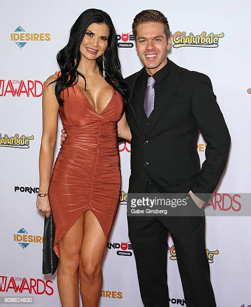 Adult film actress Jasmine Jae and adult film actor Ryan Ryder attend the 2016 Adult Video News Awards at the Hard Rock Hotel Casino on January 23...