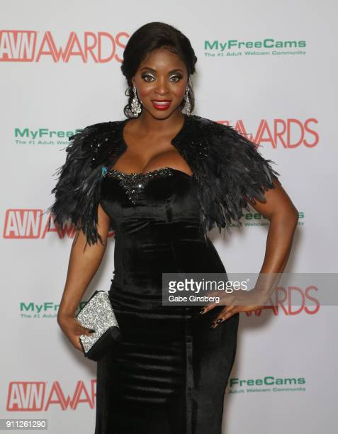 Adult Film Actress Jasmine Webb Attends The 2018 Adult Video News Awards At The Hard Rock