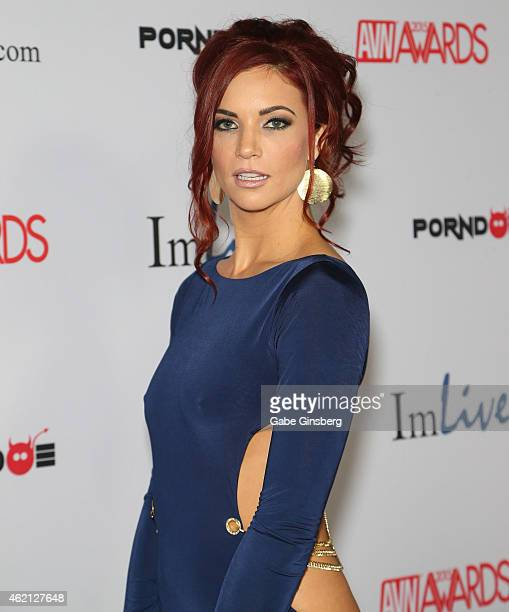 Adult film actress Jayden Cole arrives at the 2015 Adult Video News Awards at the Hard Rock Hotel Casino on January 24 2015 in Las Vegas Nevada