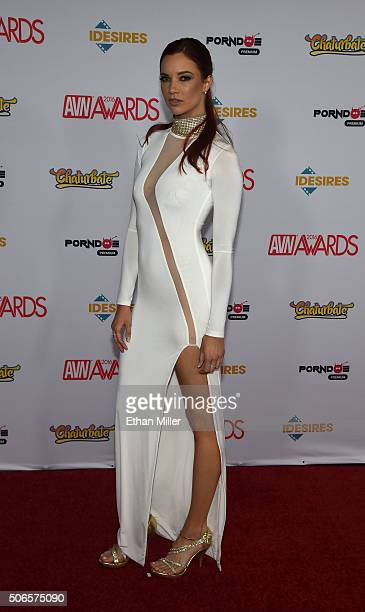 Adult film actress Jayden Cole attends the 2016 Adult Video News Awards at the Hard Rock Hotel Casino on January 23 2016 in Las Vegas Nevada