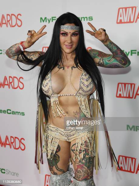 Adult film actress Jenevieve Hexxx attends the 2019 Adult Video News Awards at The Joint inside the Hard Rock Hotel Casino on January 26 2019 in Las...
