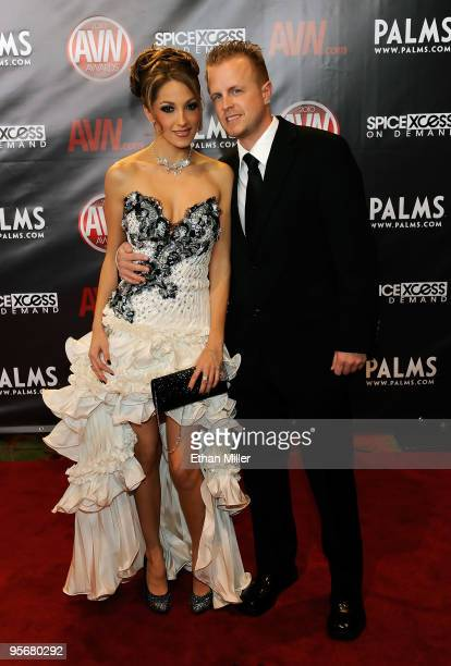 Adult film actress Jenna Haze and adult film producer/director Jules Jordan arrive at the 27th annual Adult Video News Awards Show at the Palms...