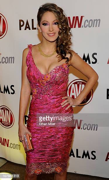 Adult film actress Jenna Haze arrives at the 28th annual Adult Video News Awards Show at the Palms Casino Resort January 8 2011 in Las Vegas Nevada