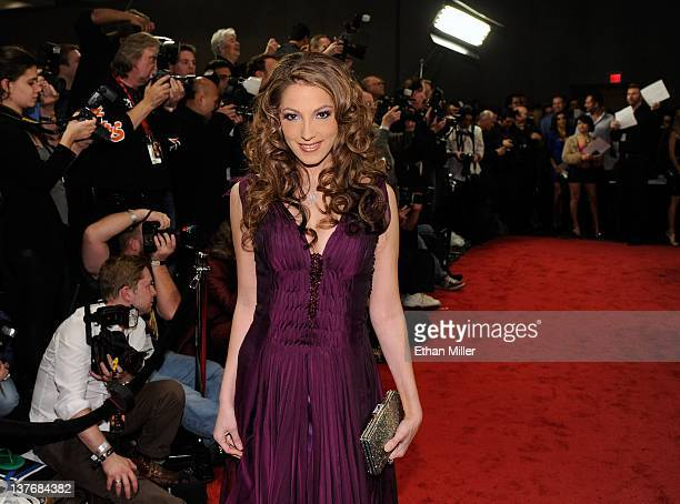 Adult film actress Jenna Haze arrives at the 29th annual Adult Video News Awards Show at the Hard Rock Hotel Casino January 21 2012 in Las Vegas...