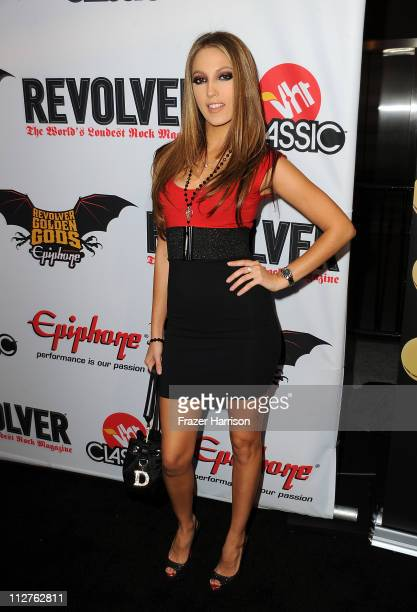 Adult film actress Jenna Haze arrives at the 3rd Annual Revolver Golden God Awards at the Club Nokia on April 20 2011 in Los Angeles California