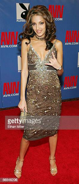 Adult film actress Jenna Haze arrives at the Adult Video News Awards Show at the Venetian Resort Hotel and Casino January 7 2006 in Las Vegas Nevada