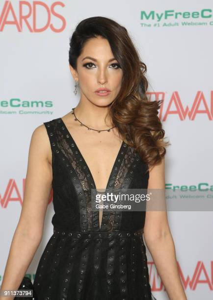Adult film actress Jenna Haze attends the 2018 Adult Video News Awards at the Hard Rock Hotel Casino on January 27 2018 in Las Vegas Nevada