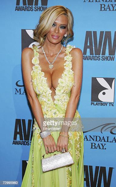 Adult film actress Jenna Jameson arrives at the 24th annual Adult Video News Awards Show at the Mandalay Bay Events Center January 13 2007 in Las...