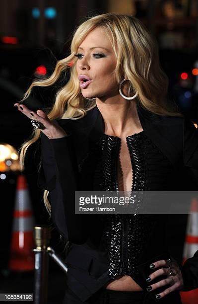 Adult film actress Jenna Jameson arrives at the premiere of Paramount Pictures and MTV Films' 'Jackass 3D' at the Mann's Chinese Theater on October...
