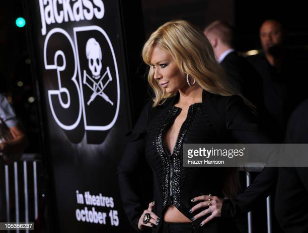 """Adult film actress Jenna Jameson arrives at the premiere of Paramount Pictures and MTV Films' """"Jackass 3D"""" at the Mann's Chinese Theater on October..."""