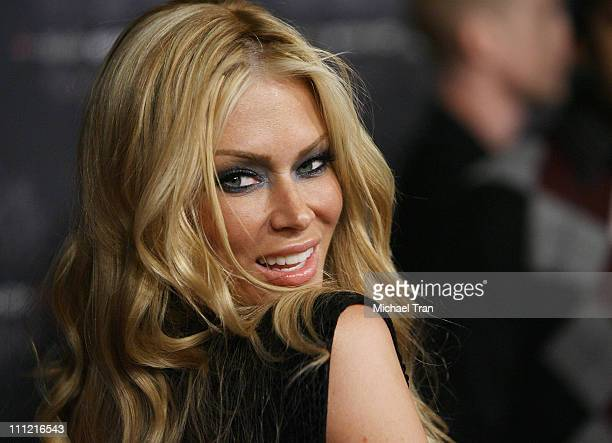 Adult film actress Jenna Jameson arrives at the TMobile Sidekick LX Launch Party held at Griffith Park's Harding and Wilson Golf Course on October 16...