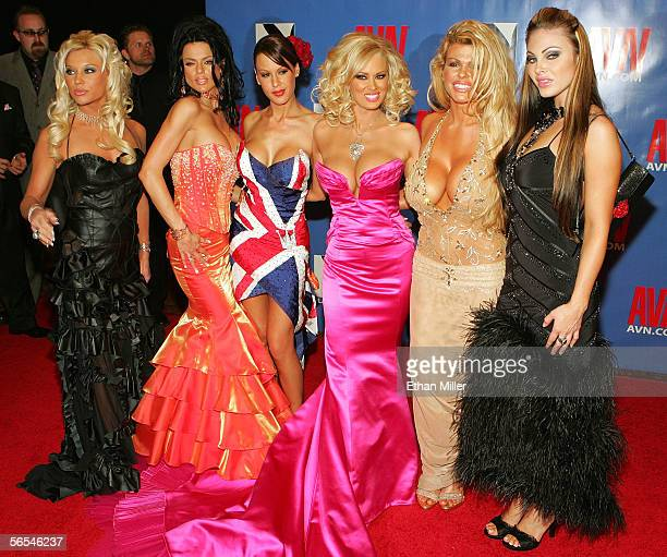 Adult film actress Jenna Jameson arrives with her Club Jenna girls at the Adult Video News Awards Show at the Venetian Resort Hotel and Casino...