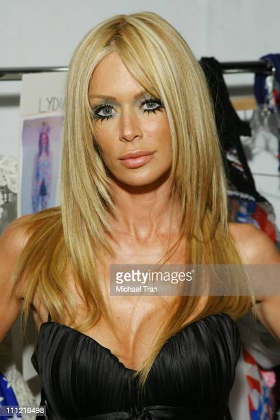 Adult film actress Jenna Jameson backstage at Heatherette Spring 2008 collection during Los Angeles Mercedes Benz Fashion Week at Smashbox Studios on...