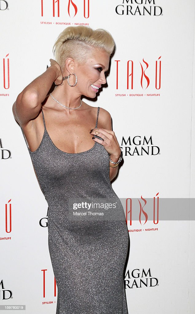 Adult film actress Jenna Jameson celebrates the 2013 AVN Weekend at Tabu Ultra Lounge in the MGM Grand on January 19, 2013 in Las Vegas, Nevada.