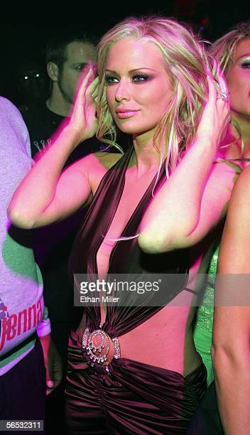 Adult film actress Jenna Jameson dances at the opening night party for the eighth annual Adult Video News Adult Entertainment Expo at the Body...