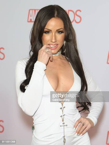 Adult film actress Jennifer White attends the 2018 Adult Video News Awards at the Hard Rock Hotel Casino on January 27 2018 in Las Vegas Nevada